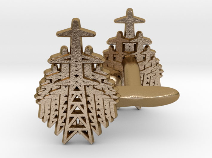 Pylon Fan cufflinks 3d printed