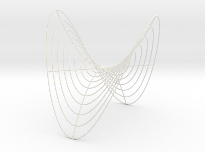 Saddle -- Cylindrical Curves (8 in) 3d printed