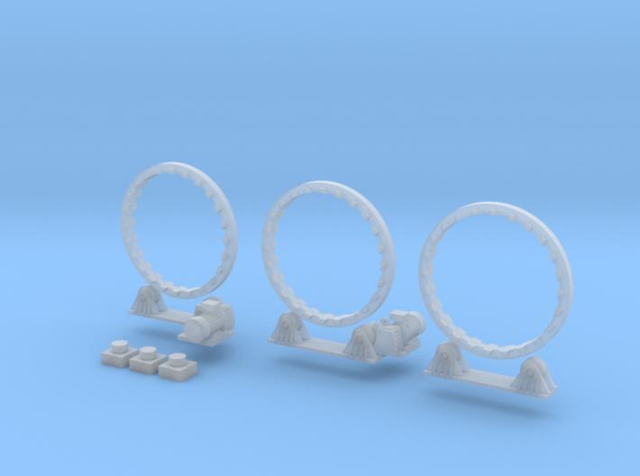 N Scale Rotary Kiln 27mm complete V5 3d printed