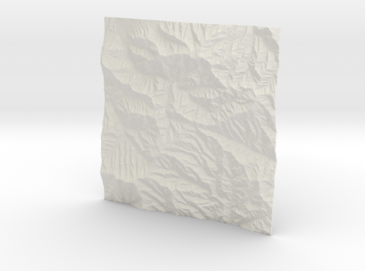 4'' Great Smoky Mountains, TN/NC, USA 3d printed