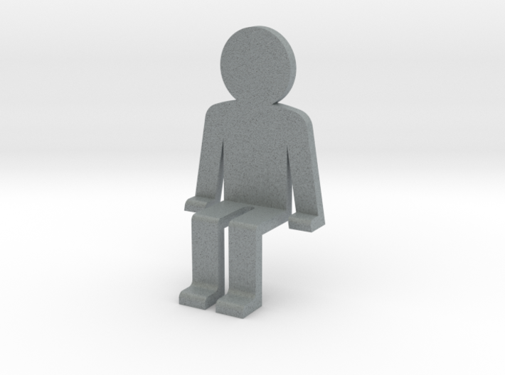 Person sitting 3d printed