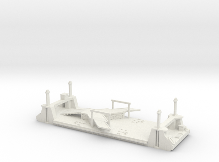 1/700 1 Off LST Pierhead Part 1 3d printed