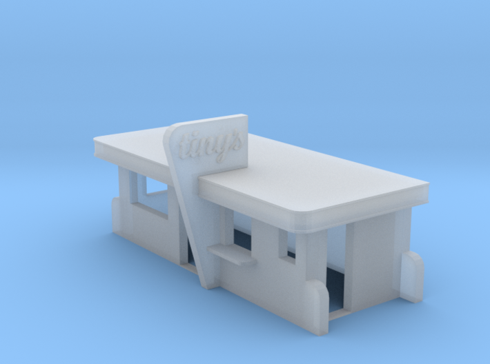 N-Scale Tiny's Diner 3d printed
