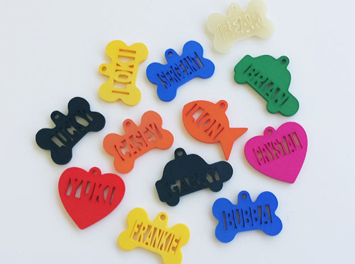 Gold Fish Pet ID Tag - Lion 3d printed Color Sample