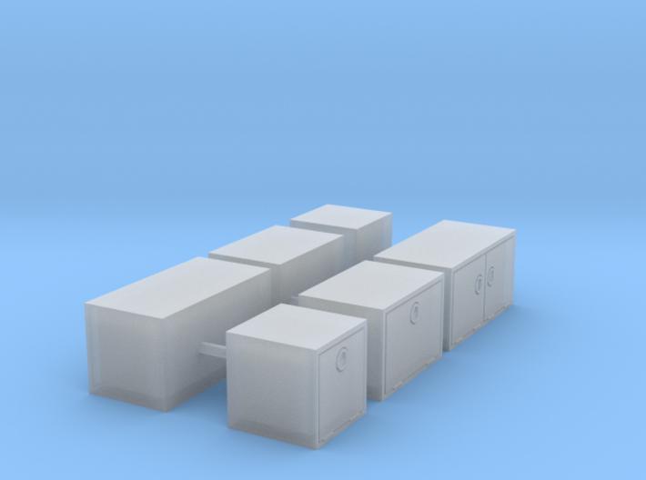 1/87th Truck Underbody Toolbox builders pack 3d printed