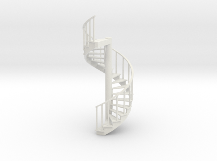 12' Spiral Stair 1:48 Right Railing 3d printed