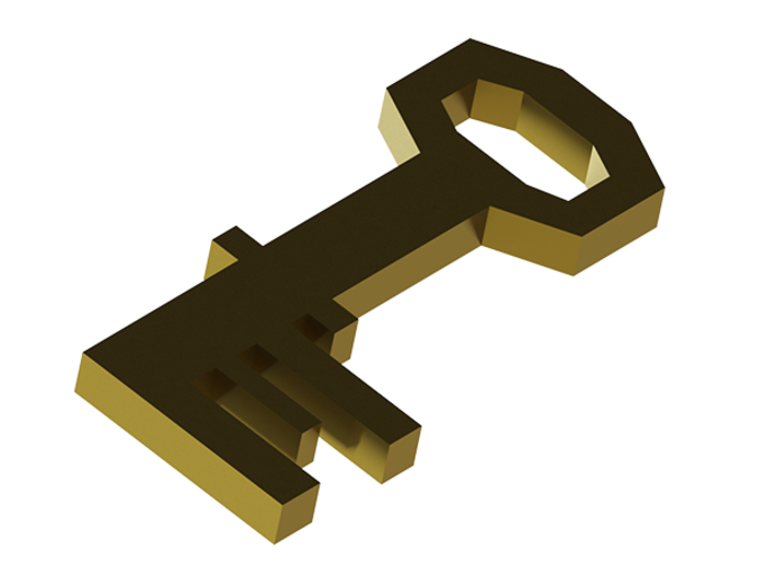 Runescape: Brass Key 3d printed