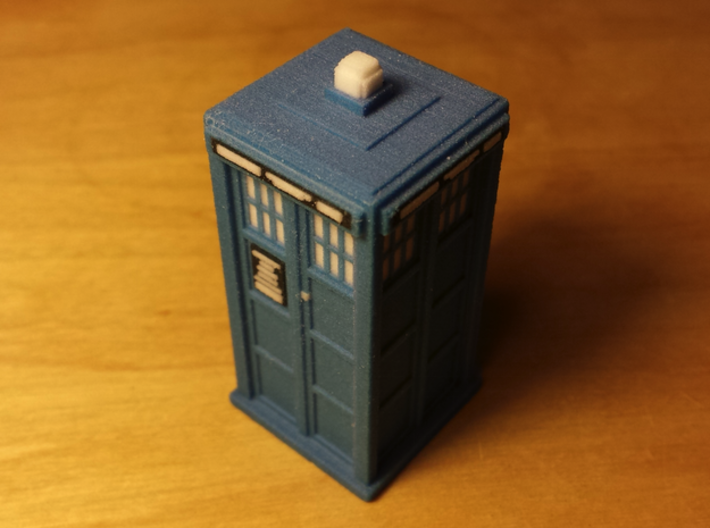 Pixelated Tardis (Baker-era) 3d printed