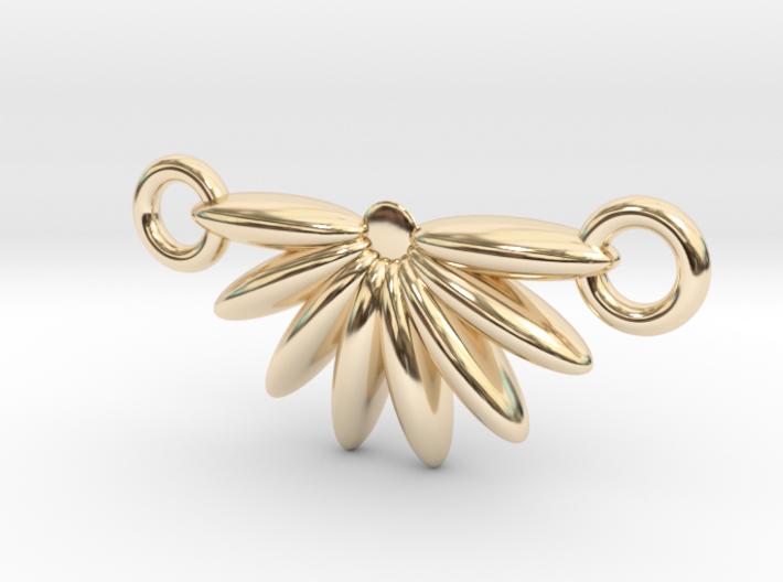 Demi Flower Pendant 3d printed