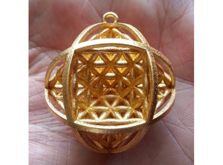 "Ball Of Life 1.5"" Pendant 3d printed"