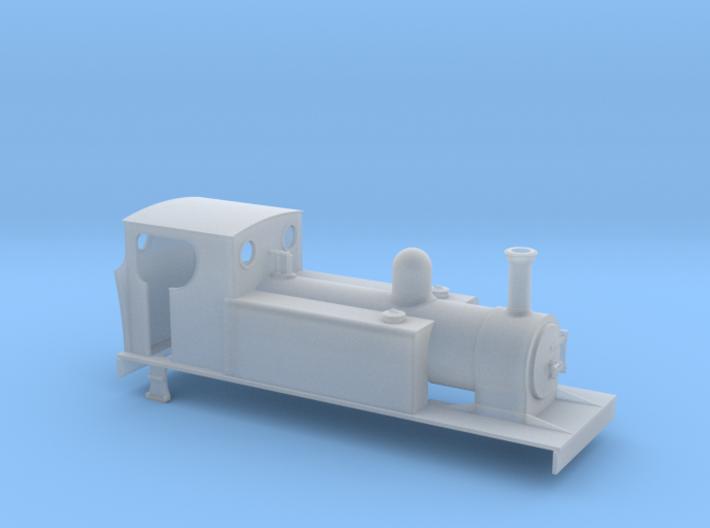 TTn3 LLSR hudswell clark 4-6-0T 3d printed