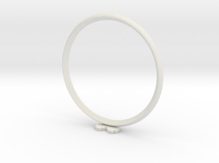 Pixel heART ring 3d printed