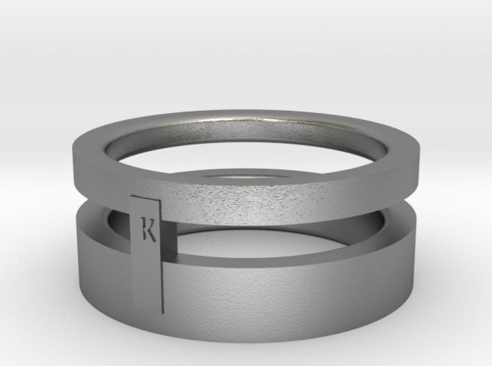 2 rings in 1 size 5 3d printed