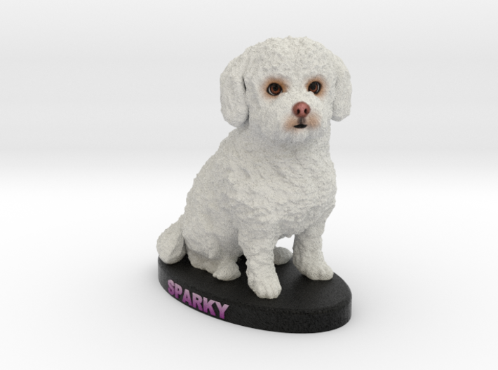 Custom Dog Figurine - Sparky 3d printed