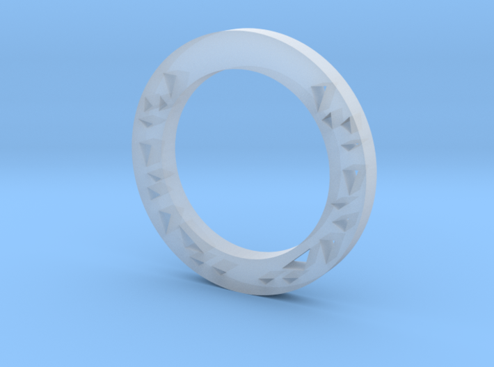 Triangles Ring 3d printed