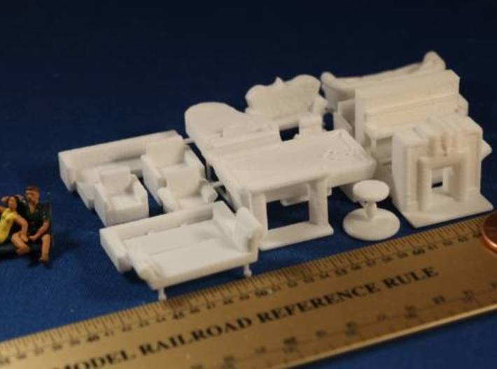 Living Room Stuff Big Collection HO Scale 3d printed