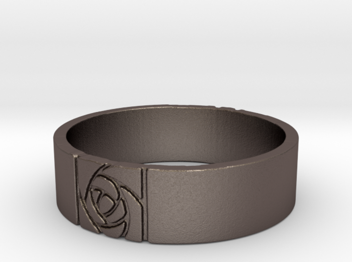 Arts and Crafts Rose Ring 3d printed