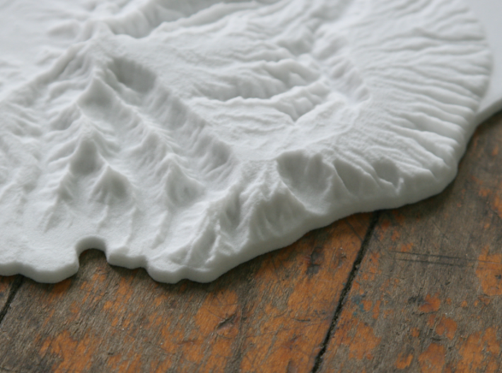 Kaua'i, 6'' - Navigator Series 3d printed Close-up of Hanalei Bay and Na Pali Coast