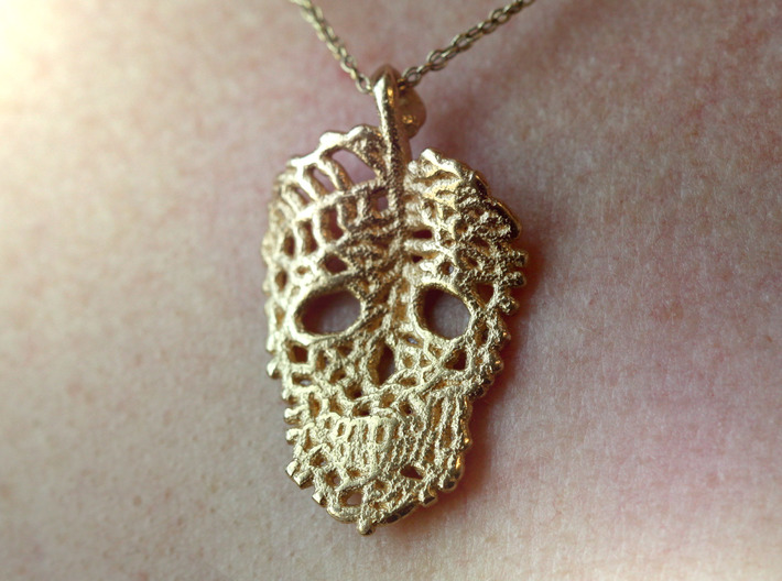 Leaf Skeleton Pendant 3d printed
