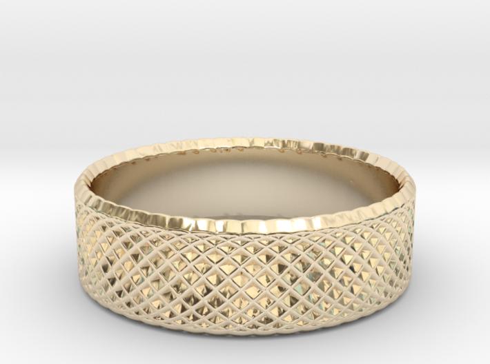 0205 Lissajous Figure Ring (Size3.5, 14.4mm) #012 3d printed