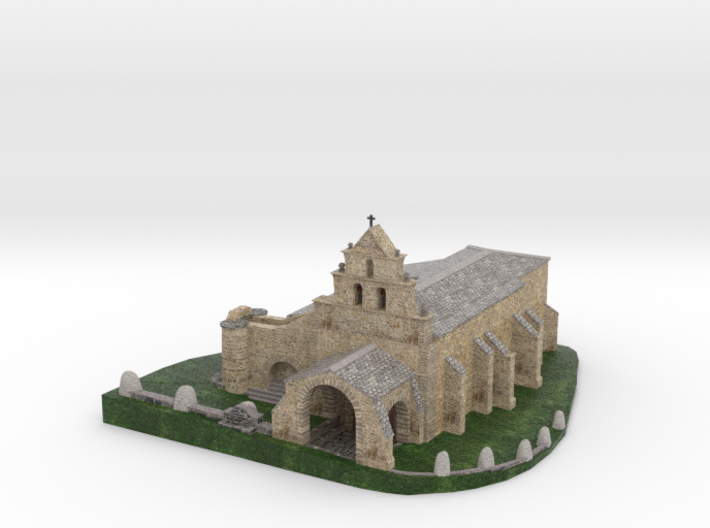 Chapel of the Snows in Leon (Spain) 3d printed