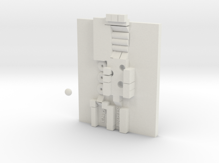back and fourth marble track puzzle 3d printed