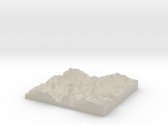 Model of Pierre & Vacances Alpe DHuez Les Bergers 3d printed