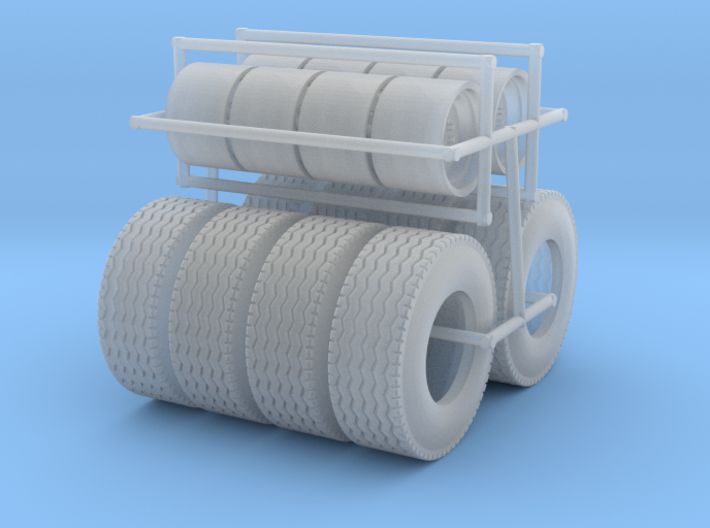 1/64 Floater Wheels and Tires (4 Sets) 3d printed