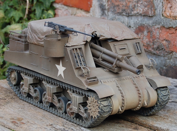 1/16 M4 Sherman 3 piece transmission cover. 3d printed M7 Priest