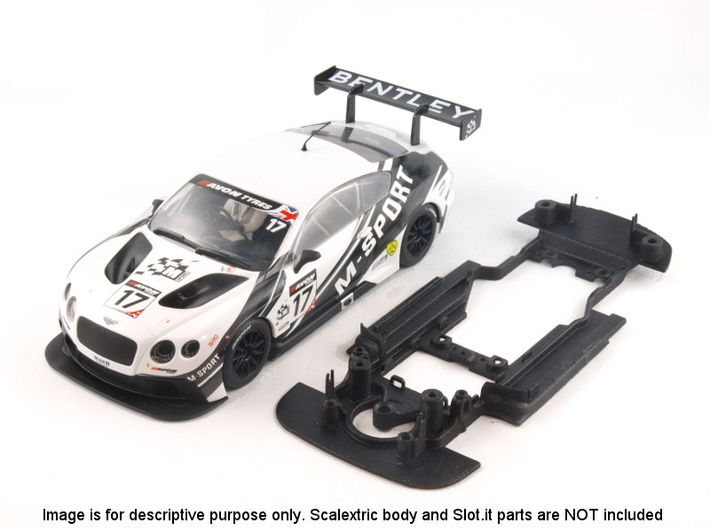 S06-ST4 Chassis for Scalextric Bentley GT3 SSD/STD 3d printed