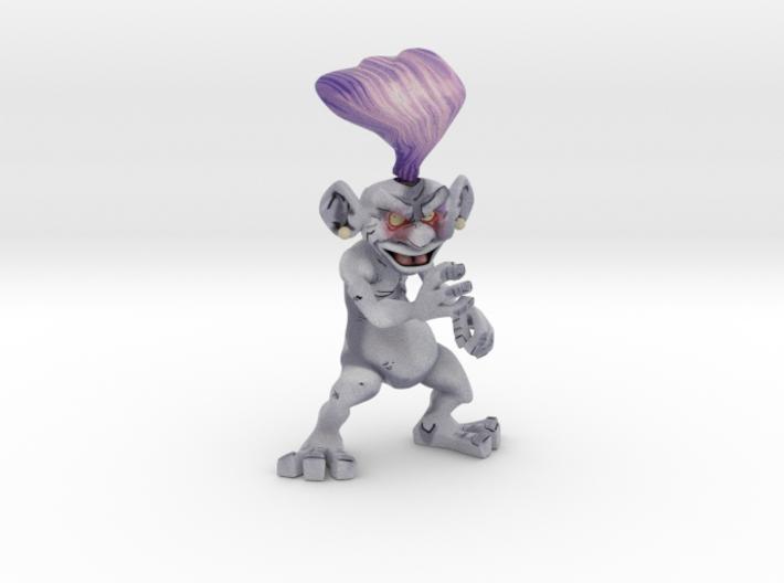 Purple Troll 3d printed