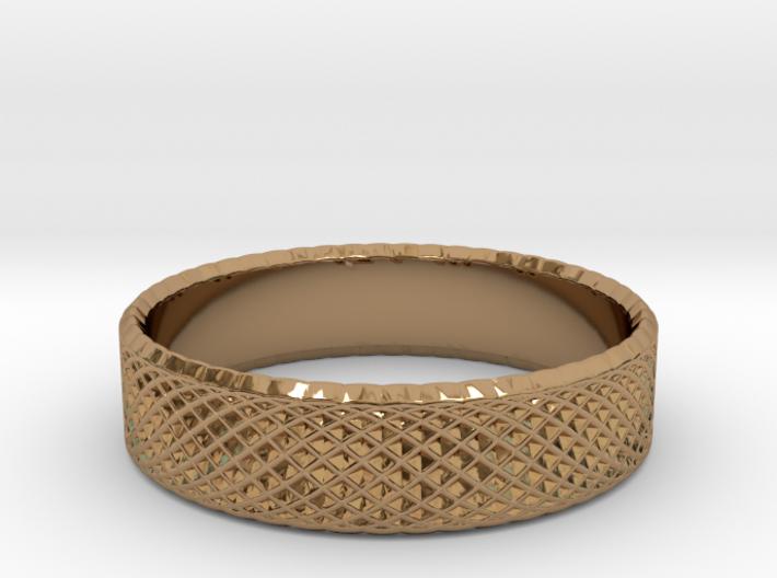0215 Lissajous Figure Ring (Size7.5, 17.7mm) #020 3d printed