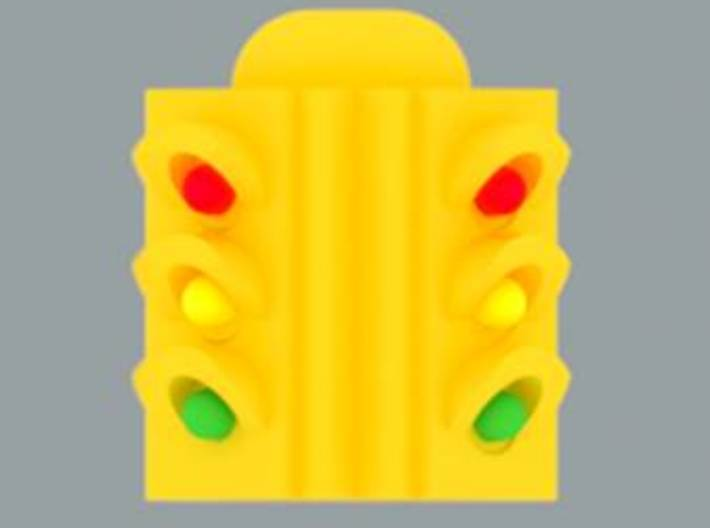 Traffic Light 4 Way Body - 'G' 22.5:1 Scale 3d printed