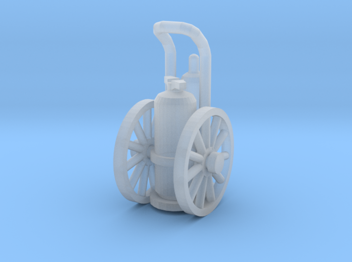 Wheeled Fire Extinguisher Z Scale 3d printed Wheeled Fire Extinguisher Z scale