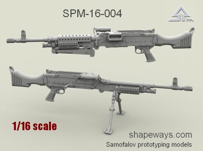 1/16 SPM-16-004 m240 machine gun 3d printed