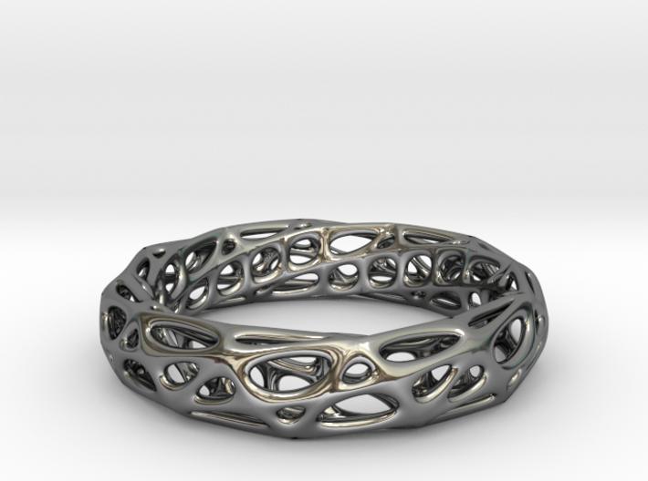 Mobius Band Voronoi Bracelet 65mm (002) 3d printed Mobius Band Voronoi Bracelet 65mm (002)