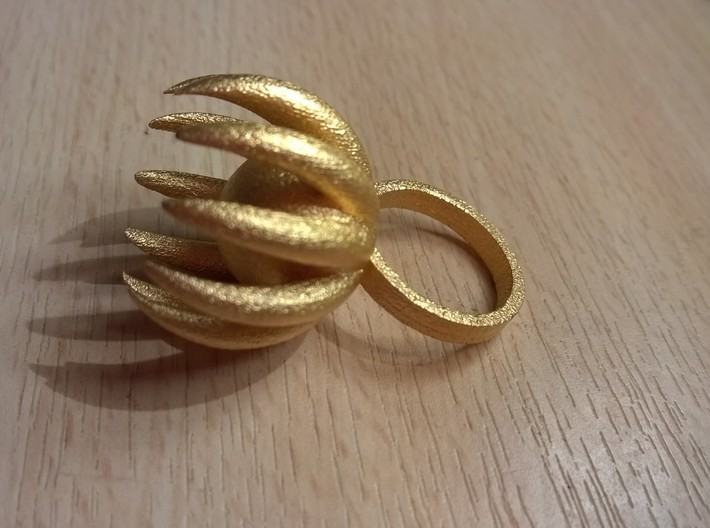 Blooming Ring size UK 0 3d printed Add a caption...