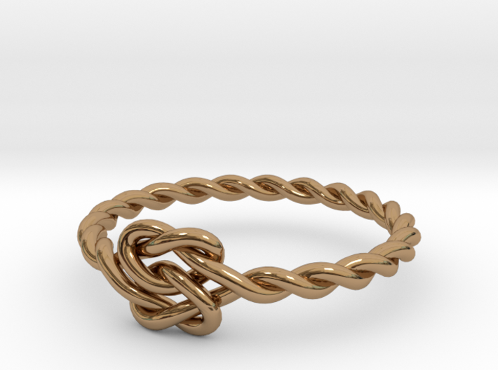 True Lover's Knot Ring - Size 6 1/2 3d printed
