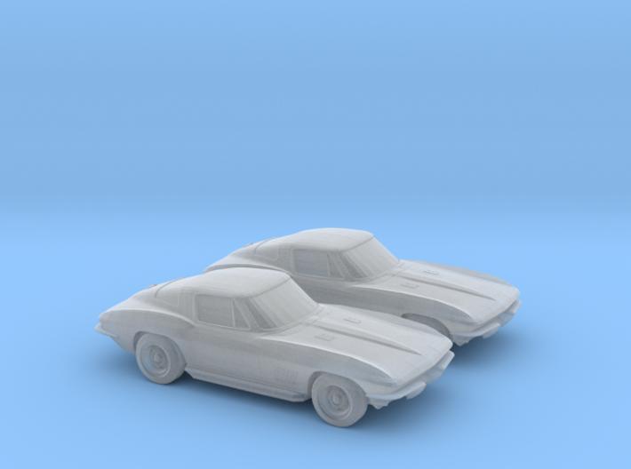 1/160 2X 1963 Corvette Stingray 3d printed