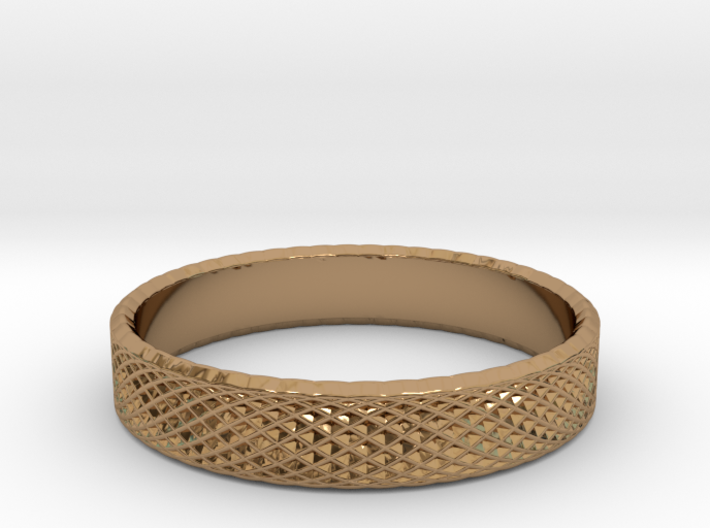 0223 Lissajous Figure Ring (Size13.5, 22.6 mm)#028 3d printed