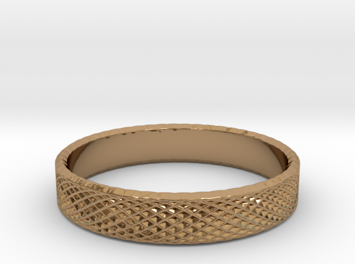 0225 Lissajous Figure Ring (Size14.5, 23.4 mm)#030 3d printed