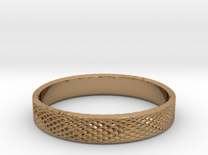 0228 Lissajous Figure Ring (Size16, 24.6 mm) #033 3d printed