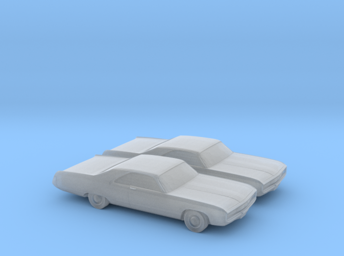 1/160 2X 1970 Chrysler 300 3d printed