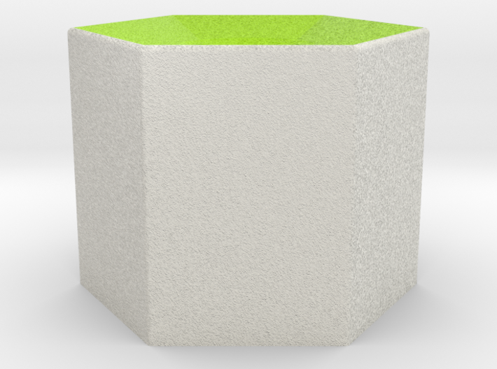 LuminOrb 1.2 - Column Stand 3d printed Shapeways render of Column Display Stand for SELFLESSNESS in Full Color Sandstone