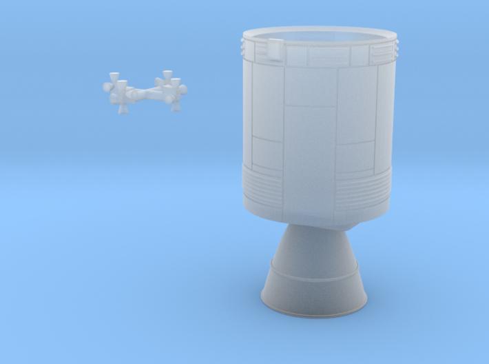 Apollo Service Module Block II, 1/144 scale 3d printed