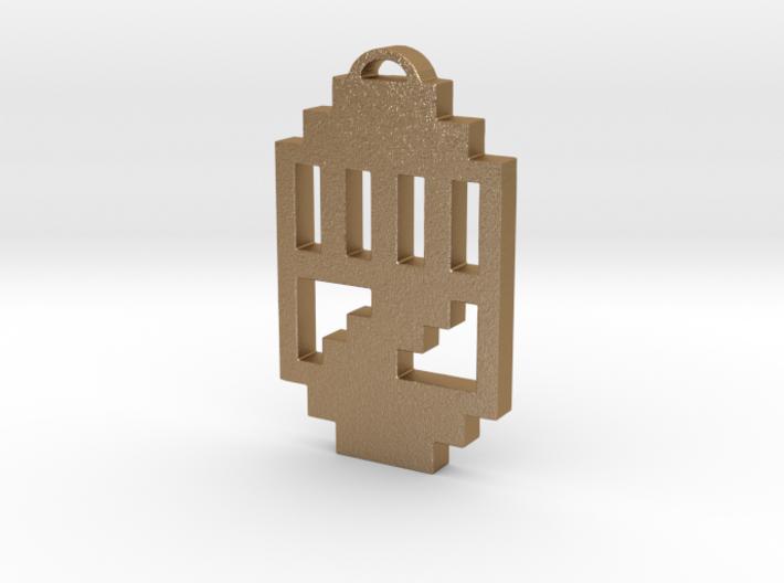 "Journey Pendant- ""Raised Fist"" Symbol 3d printed"