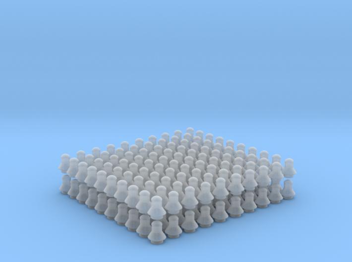 200 kontaktledningsisolatorer av SJ äldre model 3d printed