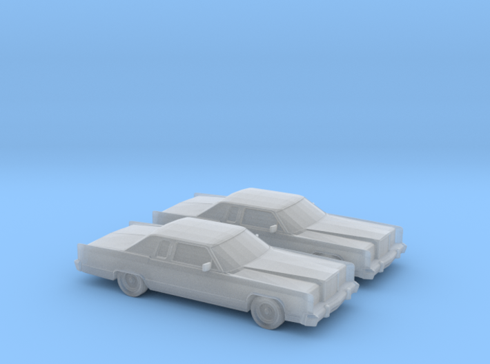 1/160 2X 1978 Lincoln Continental Coupe 3d printed