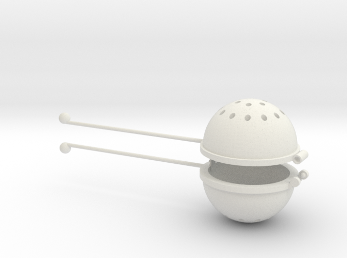 Hot Tea Infuser/Strainer 3d printed
