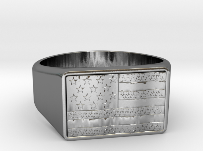 Size 8 USA RING 3d printed